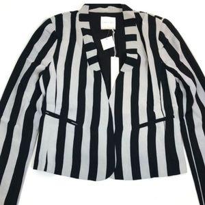 Line & Dot Jackets & Coats - Line & Dot REVOLVE stripe grey & black blazer NWT